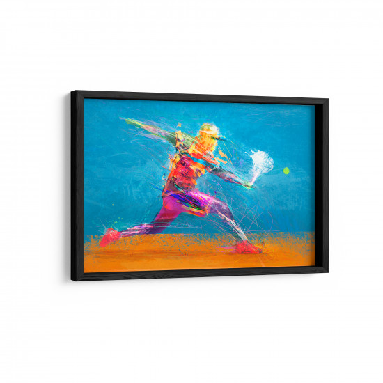 Quadro Decorativo Aquarela Tennis in Blue